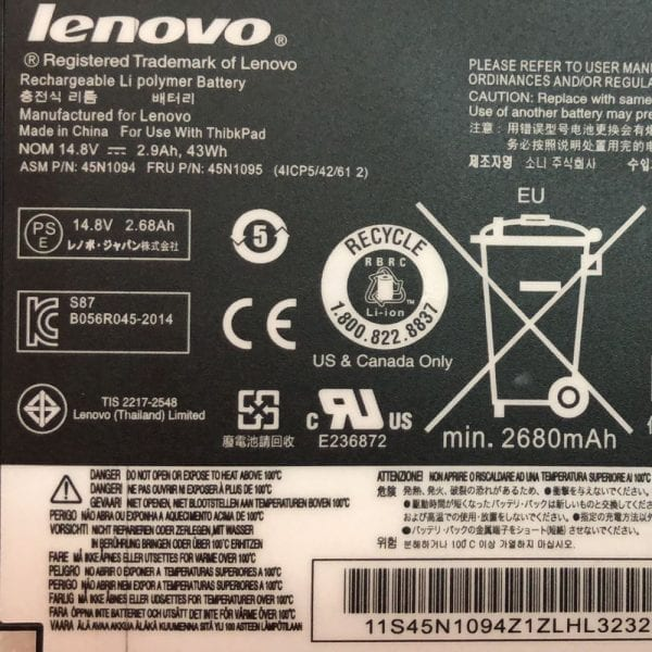 Original battery for laptop LENOVO S230U