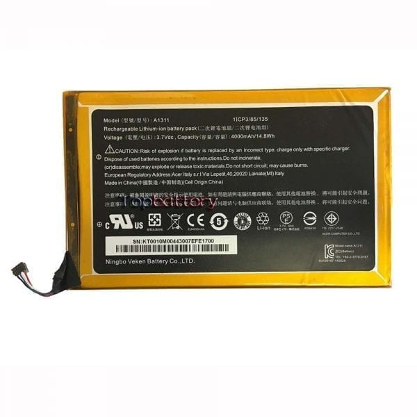 Original battery for tablet ACER ICONIA A1,ICONIA A1-830